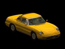 Alfa Romeo Spider 2-door roadster 3d model