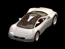 Audi Avus quattro concept car 3d model