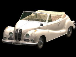 BMW 502 door coupe 3d model