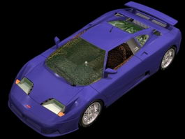 Bugatti EB110 sports car 3d model