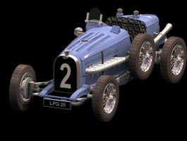 Bugatti Type 59 racing car 3d model