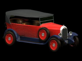 Citroen Type A 10CV automobile 3d model