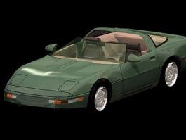 Corvette ZR-1 sports car 3d model