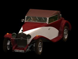 Delage D8 S luxury car 3d model