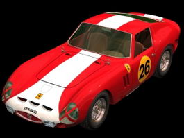 Ferrari 250 GTO racing car 3d model