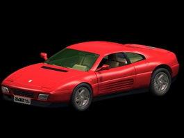 Ferrari 348 sports car 3d model