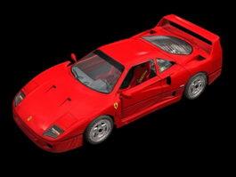 Ferrari F40 two-door coupe 3d model