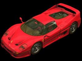 Ferrari F50 car 3d model