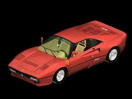 Ferrari 288 GTO racing car 3d model