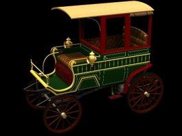 1900 wood station wagon 3d model