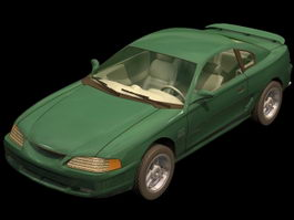 Ford Mustang GT pony car 3d model
