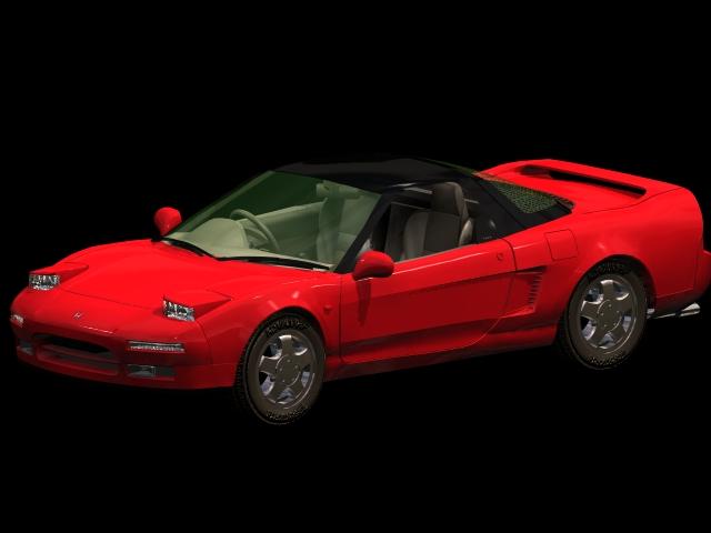 Honda NSX Sports car 3d model 3dsmax files free download - modeling