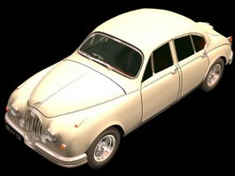 Jaguar Mark 1 saloon car 3d model