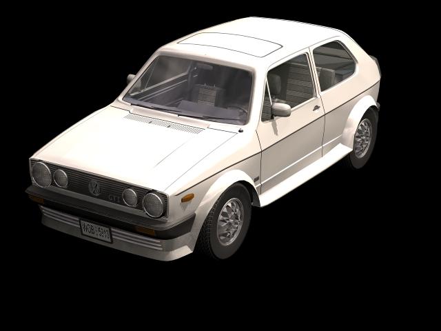 Volkswagen Golf Gti Mk1 Family Car 3d Model 3dsmax Files