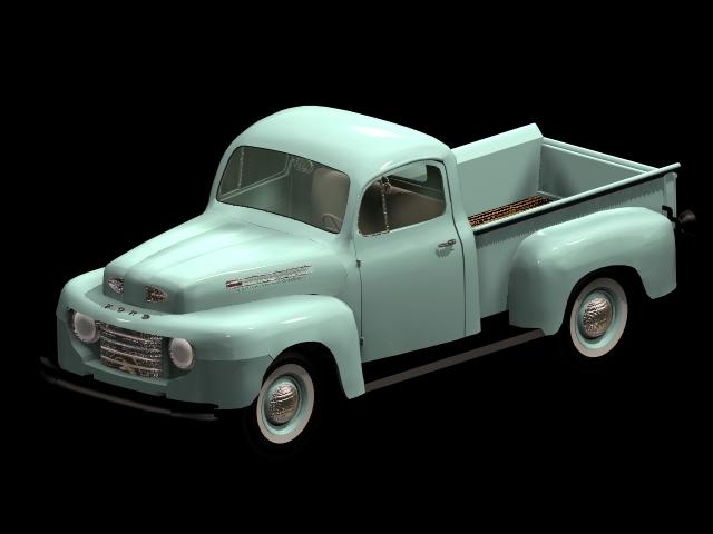 Ford 1950 f 3 pick up 3d model 3dsmax files free download modeling 10637 on cadnav - Pick up mobel kiel ...