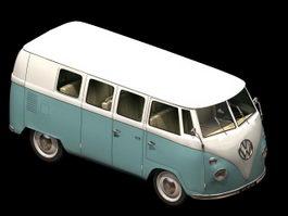 Volkswagen Type 2 minibus 3d model