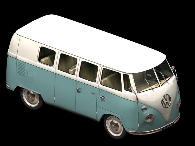Volkswagen Type 2 Minibus 3d Model 3dsmax Files Free