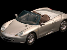 Porsche Boxster sports car 3d model