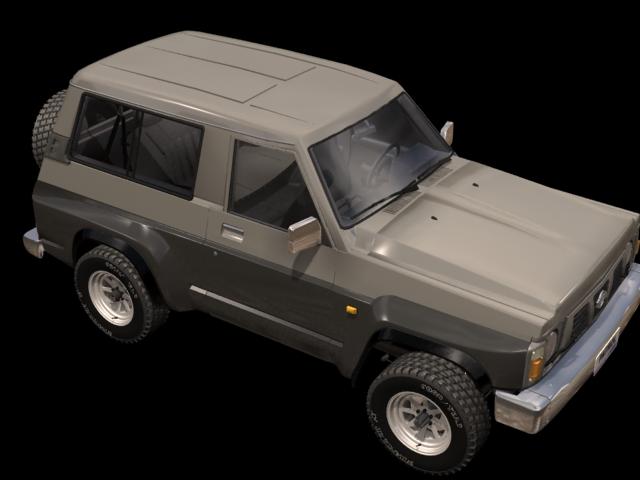 Nissan Patrol 2 Door Pickup 3d Model 3dsmax Files Free