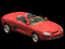 Ford Mustang Mach III concept car 3d model