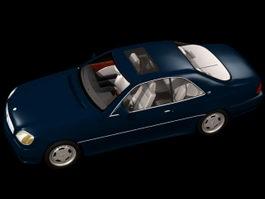 Mercedes-Benz S600 luxury car 3d model