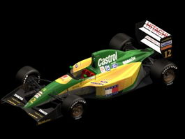 Lotus 107 racing car 3d model