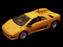 Lamborghini Diablo roadster 3d model