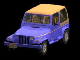 Jeep Wrangler convertible 3d preview