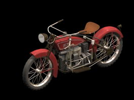 1924 Ace motorcycle 3d model