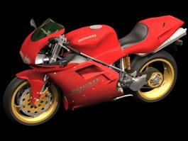 Ducati 916 sport motorcycle 3d model