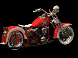 Harley-Davidson FL motorcycle 3d model