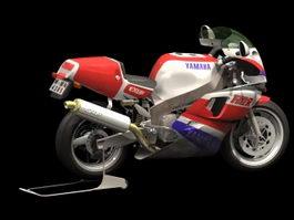 Yamaha FZ750 sport motorcycle 3d model