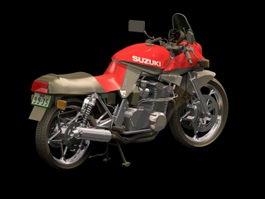 Suzuki Katana sport motorcycle 3d model