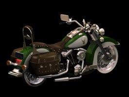 Harley-Davidson Heritage Softail motorcycle 3d model