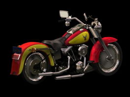 Harley-Davidson FLSTF Fat Boy 3d model