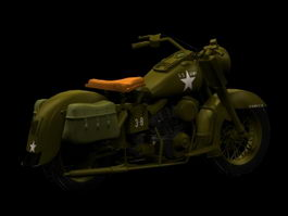 Harley-Davidson Military motorcycle 3d model