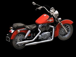 Honda Shadow motorcycle 3d model
