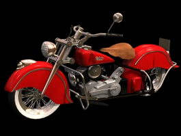 1948 Indian Chief Black Hawk 3d model