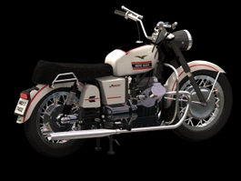 Moto Guzzi Stelvio dual-sport motorcycle 3d model