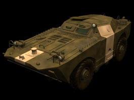 BRDM-1 armored scout car 3d model