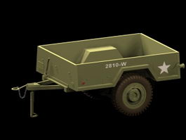 M101 cargo trailer 3d model