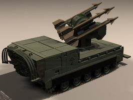 MIM-72 Chaparral missile launcher 3d model