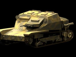 Carro Veloce CV-35 tankette 3d model