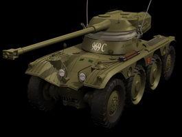Panhard EBR armoured car 3d model