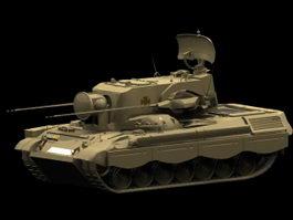 Flakpanzer Gepard tank 3d model