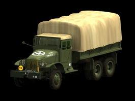 GMC CCKW army cargo truck 3d model