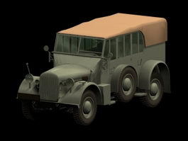 Horch 108 military staff car 3d model