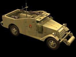 M3 Scout Car 3d model