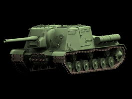 ISU-122 heavy self-propelled gun 3d model