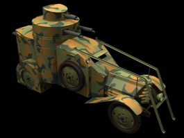 Lancia IZ armored car 3d model
